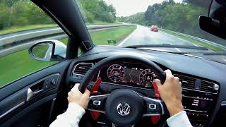 NEW VW GOLF 7 GTI FACELIFT 2017| POV Driving with GoPro on a rainy Day|
