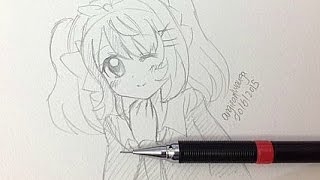 Draw a Manga Girl (Real Time)