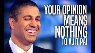 FCC Admits Ajit Pai Doesn't Care About Backlash Over Net Neutrality Repeal