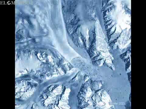 Glaciares en movimiento vistos desde el espacio - La Mula