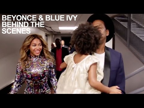 Beyonce & Blue Ivy BEHIND THE SCENES at MTV VMA 2014: