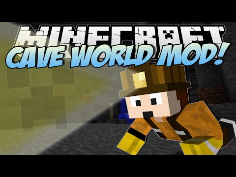 Minecraft CAVE WORLD MOD Worlds Most EPIC Caves Mod Showcase
