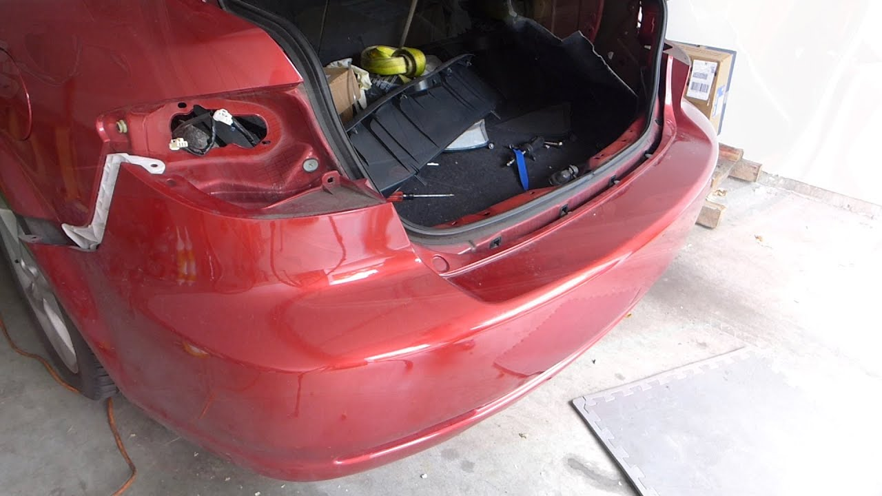 Mazda 6 Taillight And Rear Bumper Removal Youtube