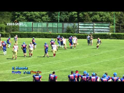 Topliga PLFA: Kozy Pozna-Devils Wrocaw (19.05.2013) Skrt punktowy