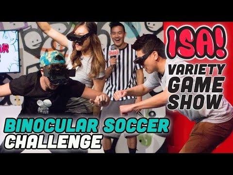 BINOCULAR SOCCER CHALLENGE! - ISA! Variety Game Show Season 2 Pt. 9