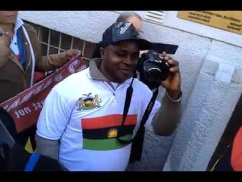 Biafra Restoration, Nnamdi Kanu's Arrest: IPOB Protest @ Nigerian Embassy Stockholm, Sweden Pt1