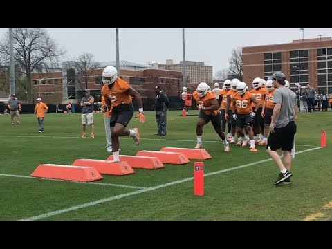 Tennessee Football Spring Practice #1 - 3/20/18