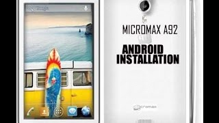 How to Flash Micromax A92