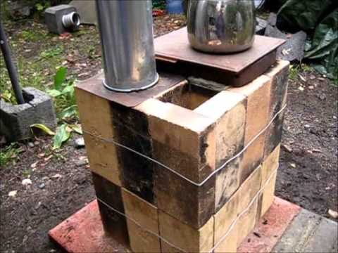 Rocket Stove Ideas 33 Brick Box Rocket Stove Youtube