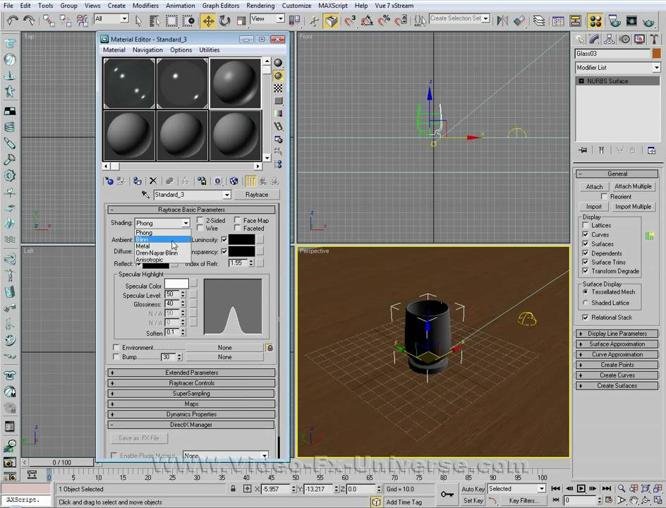 Create realistic glass in 3ds max tutorial. 3DS Max 2011 - NURBS