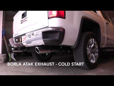2015 GMC Sierra 6.2L Stock vs Borla ATAK Exhaust