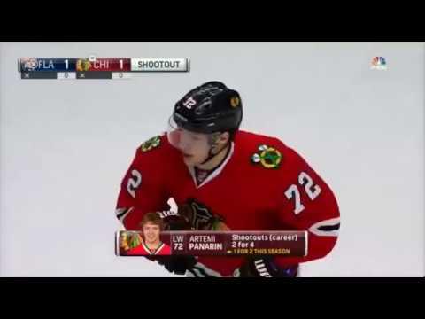 НХЛ 16-17    Буллит Панарина  в ворота  Florida Panthers 29.11.16