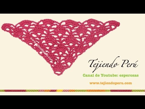 Punto triangular tejido a crochet