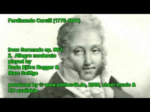 Ferdinando Carulli Serenade Nr.1, op. 96/1, Allegro Moderato, Boris Bagger and Marc Seiffge