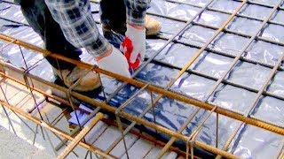 Building a house step by step  full HD  Day 40 43 Reinforcement ceiling