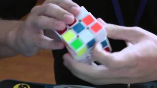 Rubiks cube solved in 5.66 seconds slow motion