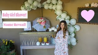 Baby Girl Shower & Name Reveal!