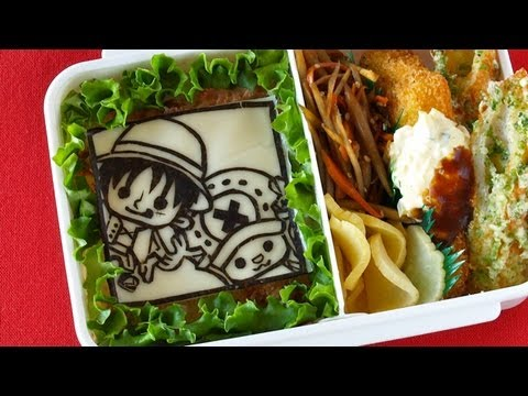 one piece bento lunch box nori art kyaraben ochikeron create eat happy. Black Bedroom Furniture Sets. Home Design Ideas