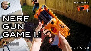 Nerf meets Call of Duty: GUN GAME 1.1 Remastered! (First Person Shooter!)
