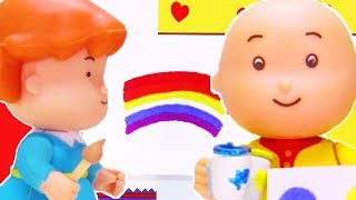 NEW! RAINBOW | Funny Animated cartoons Kids | WATCH ONLINE | Caillou Stop Motion | cartoon movie