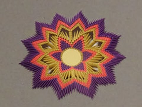 Модульное оригами.№7 Декоративная тарелка