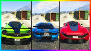 NEW FASTEST SUPER CAR IN GTA ONLINE! - Banshee 900R VS T20 & Other Super Cars Speed Test! (GTA 5)