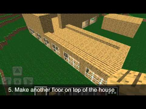 Minecraft Pocket Edition Advanced House Tutorial YouTube