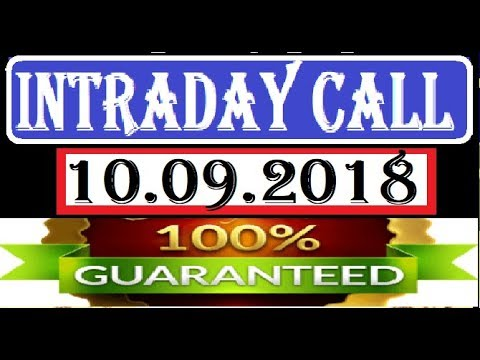 IntraDay Top 3 Jackpot Call 10.09.2018 || today stock || intraday || best stock for 2018