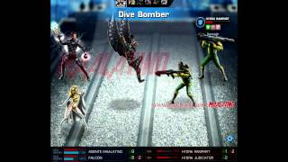 Marvel Avengers Alliance - Movimientos de Falcon nivel 9