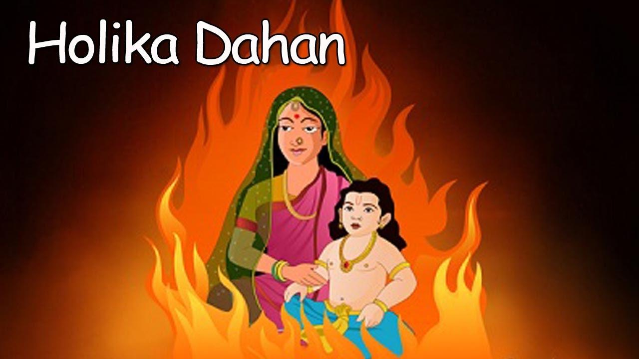 Hinduism Story of Holika and Prahlad Cards - holi, Holika Prahlad and holika pictures