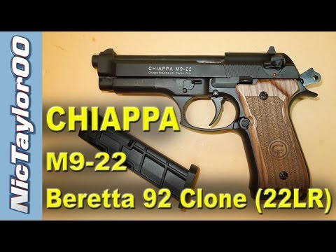 Chiappa M9-22 Pistol (22LR Clone of the Beretta 92) - REVIEW
