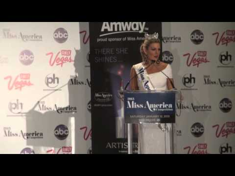 Miss America 2013 Mallory Hagan's Post-Crowning Press Conference