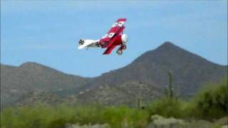 1/4 Scale Fokker DR-1 Electric Maiden Flight