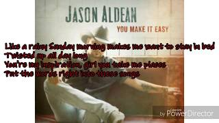Download Lagu Jason Aldean you make it easy lyrics Gratis STAFABAND