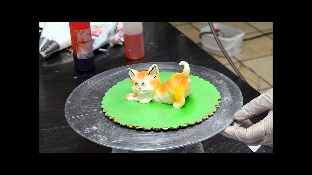 Cake Decorating Modelling Icing : Decorating Cat from Cream - Whipped cream Cat - Eatable ...