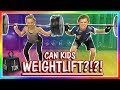 CAN KIDS DO WEIGHTLIFTING?!?! | We Are The Davises