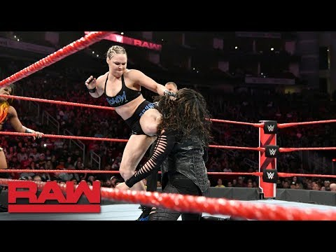 Ronda Rousey & Ember Moon vs. Nia Jax & Tamina: Raw, Dec. 3, 2018