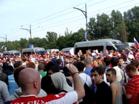 Euro 2012 Hooligans in Action: Russia and Poland Riots