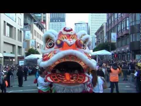 Giant Chinese Lion Dance, San Francisco CA