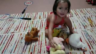 FUNNY BABY PLAYING ANIMALS ! Counting and Animal Sounds