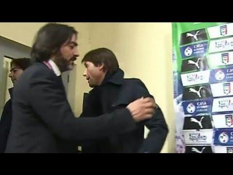 Antonio Conte polemico abbandona intervista Rai dopo la domanda su Marchisio infortunato