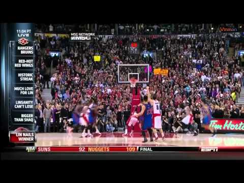 Jeremy Lin - Knicks vs. Raptors Sportcenter Highlights