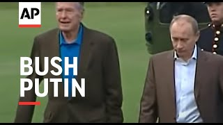 Russian Pres Vladimir Putin arrives at Bush home in Maine - 2007