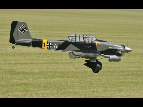 RC PLANE CRASH LANDING - GREAT PLANES JU 87 STUKA DIVEBOMBER