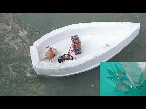 Лодка из пенопласта с моторчиком своими руками 30