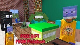 Monster School: FREE GIFT FROM PlataBush - MINECRAFT ANIMATION