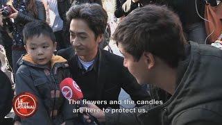 Little boy reacts to Paris attacks