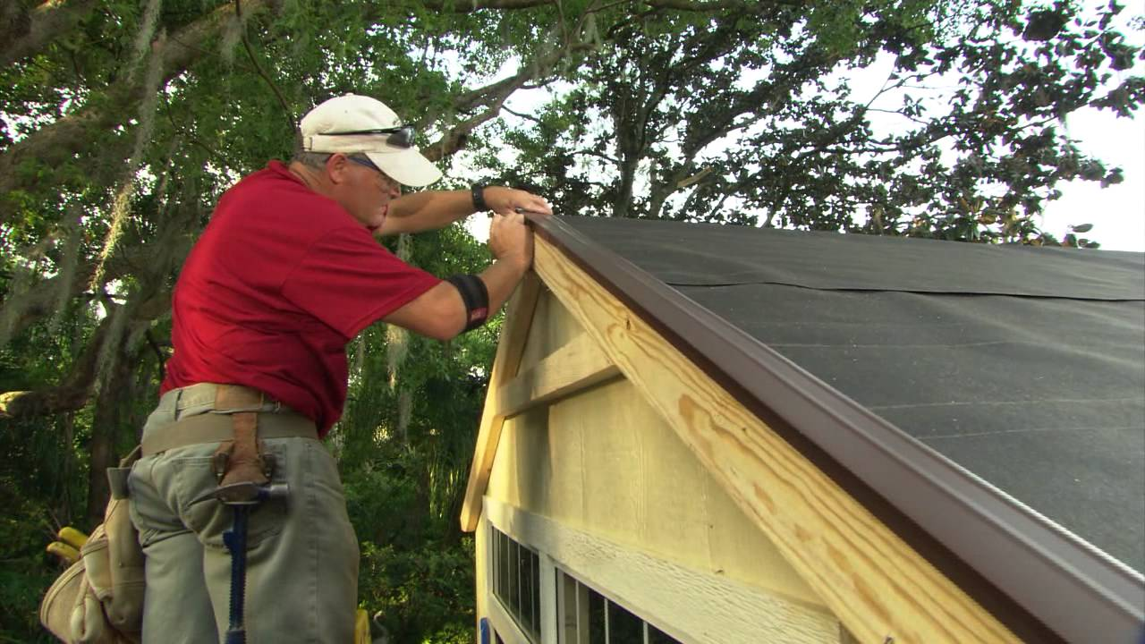 How To Install Roof Shingles On A Shed Youtube