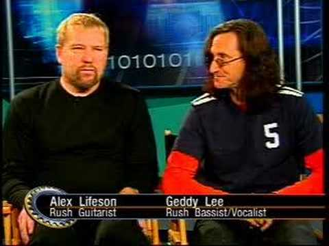 Rush's Geddy Lee&Alex Lifeson on Tech TV w/ Martin Sargent