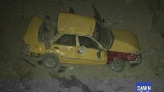 Taxi accident on liyari Express way